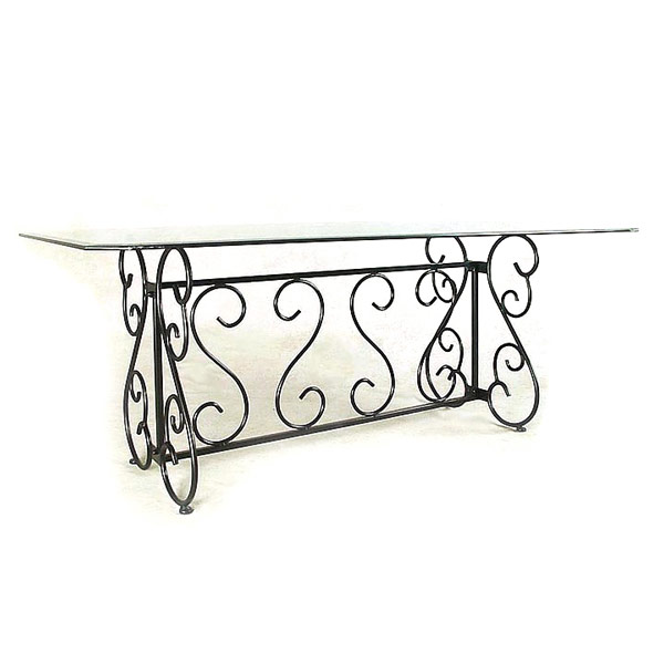French Scroll Wrought Iron Buffet Table