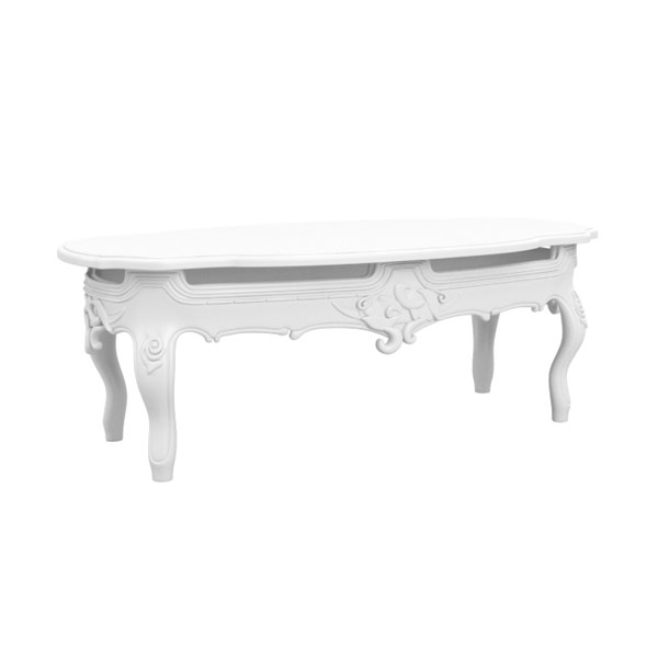 White Victorian Coffee Table