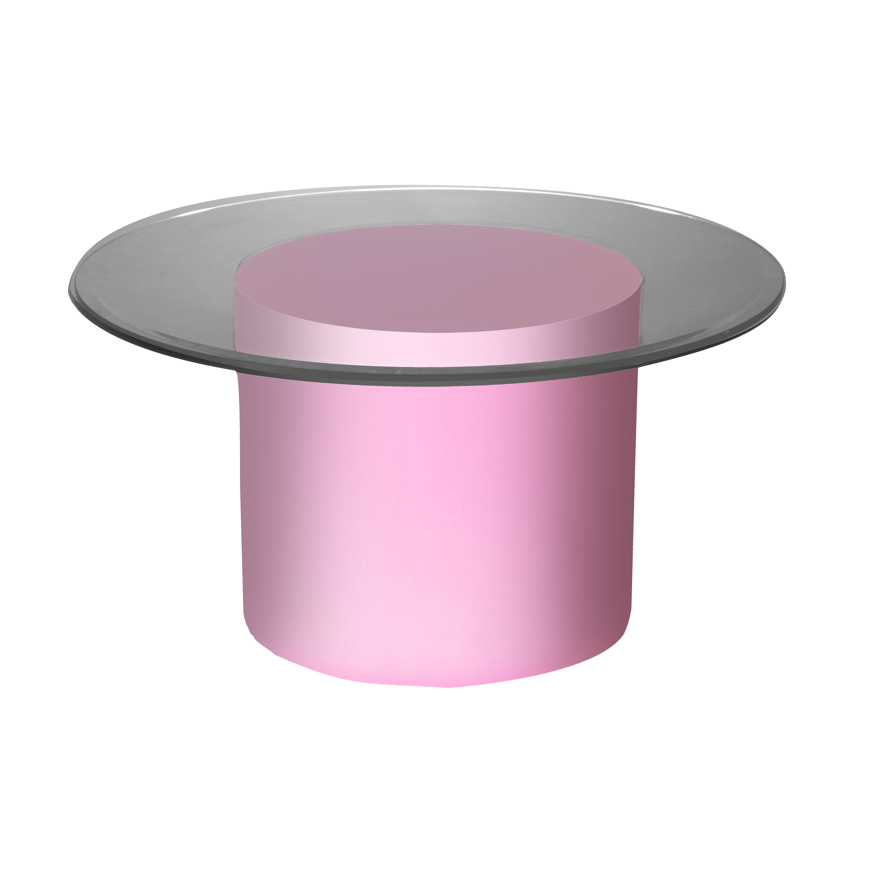 Baby Pink Scuba Skin Cylinder Coffee Table