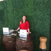 CERF employee at Cork and Rustic booth display