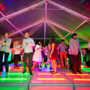 Dancing on RGB LED Dance Floor