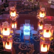 illuminated acrylic dinner table and 2-tier displays