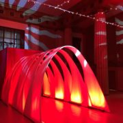 Illuminated Spandex Archway Tunnel and GOBO Lights 01