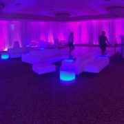 Purple Illuminated Lounge