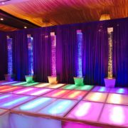 Rainbow Water Bubble Columns and Runway
