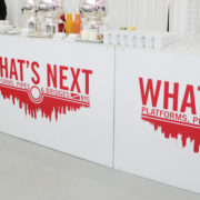 White Acrylic Bar with Printed Decal