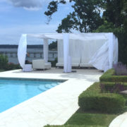 White Cabana by the water