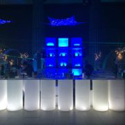 White LED illuminated Cylinder Bars