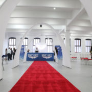 White Spandex Archway Red Carpet 01