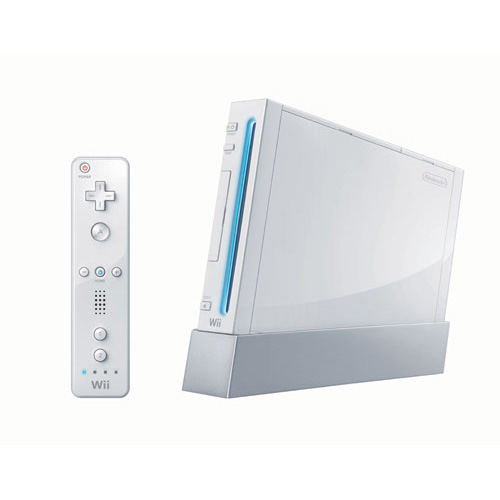 Video gaming station nintendo wii with sports games