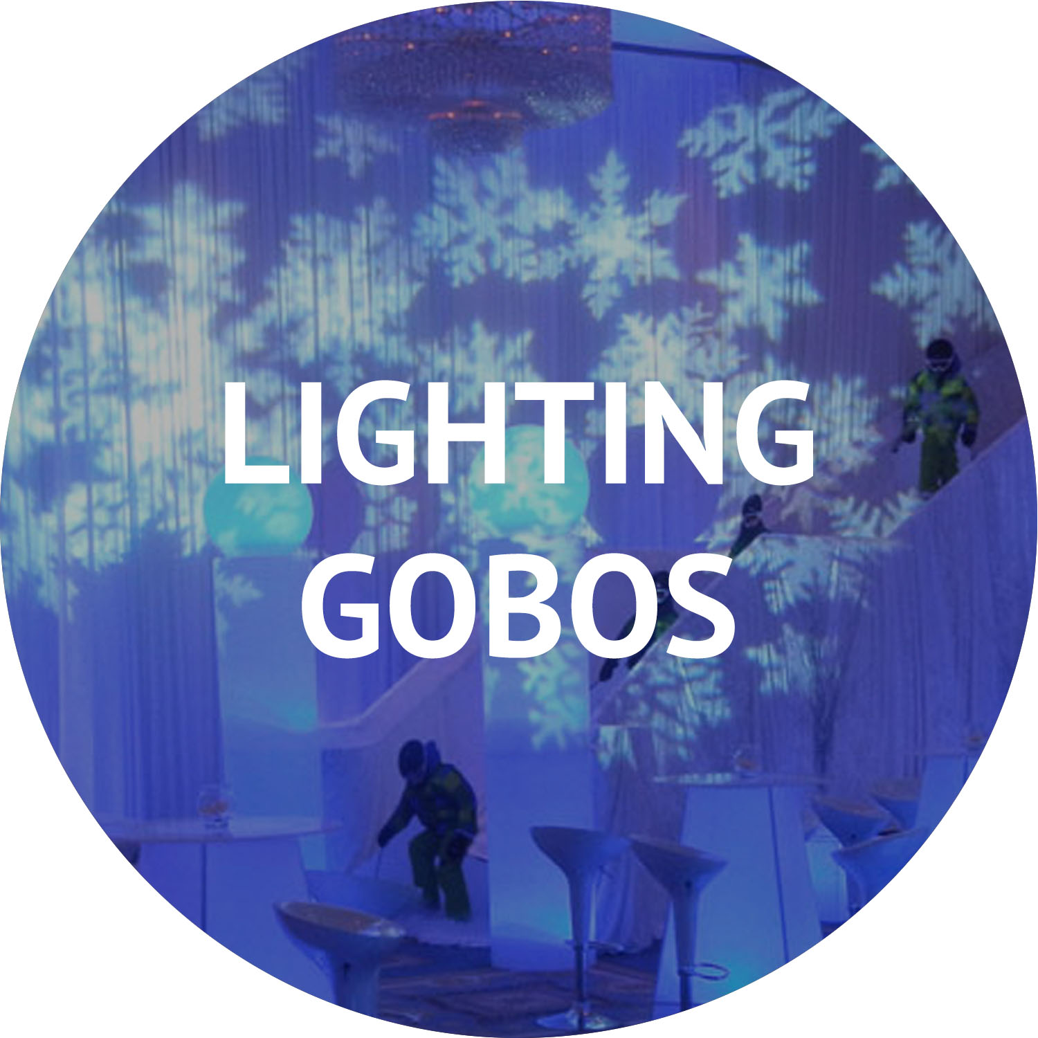 lighting gobos and special event furniture rental Manhattan NYC