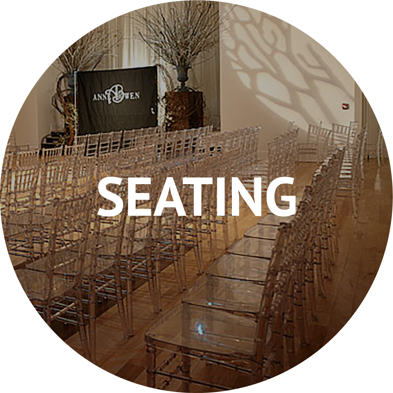 Seating and furniture rentals for special events Manhattan NYC